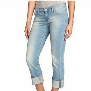 ROCK & REPUBLIC Kendall Cropped Jeans 10 Lightwash